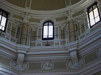 Public Library of Valencia - Image: Detall del tambor de la cúpula de l'Hospital, actual Biblioteca Pública de València