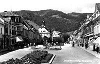 Deutschlandsberg, Hauptplatz um 1940.jpg