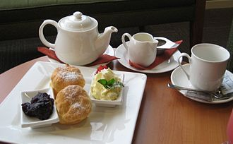 Cream tea - Image: Devonshire tea