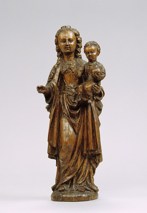 Devotional statue of Mary with baby Jesus