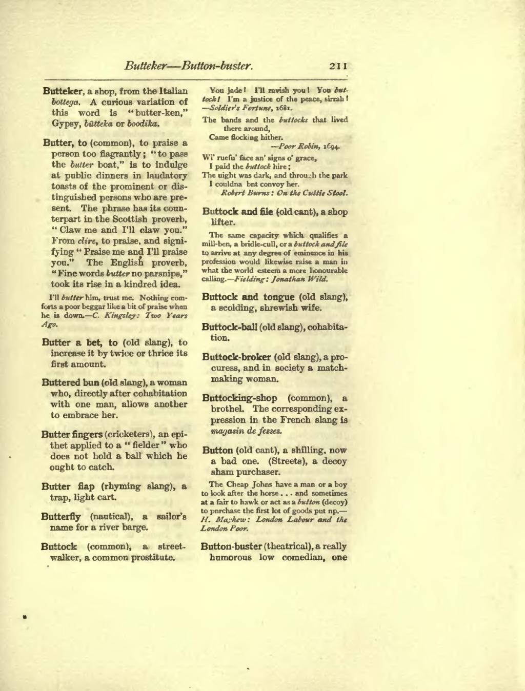 Page Dictionary Of Slang Jargon Cant 1889 By Barrere Leland
