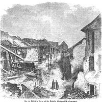 Die Zerstörungen auf dem Kästrich in Mainz