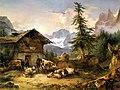Die Gosau-Alm mit dem Dachstein Friedrich Gauermann 1846.jpg