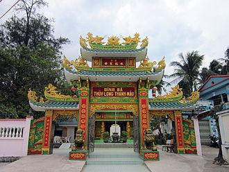 Vietnamese folk religion - Gateway to Bà Thủy Long Thánh Mẫu Shrine, or simply Bà Shrine, in Dương Đông