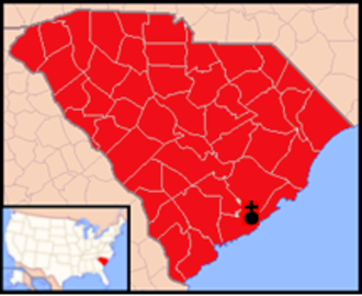 Roman Catholic Diocese of Charleston - Image: Diocese of Charleston map