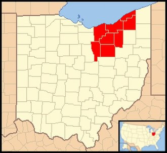 Roman Catholic Diocese of Cleveland - Image: Diocese of Cleveland (Ohio) map 1