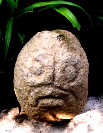 San Juan Achiutla - Dzahui Pre-Columbian rain's deity is formed in raindrops, found in San Juan Achiutla.