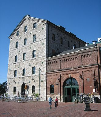 Adaptive reuse - Toronto's Distillery District was a former whiskey distillery