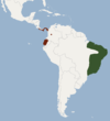 Distribution of Lonchophylla mordax.png