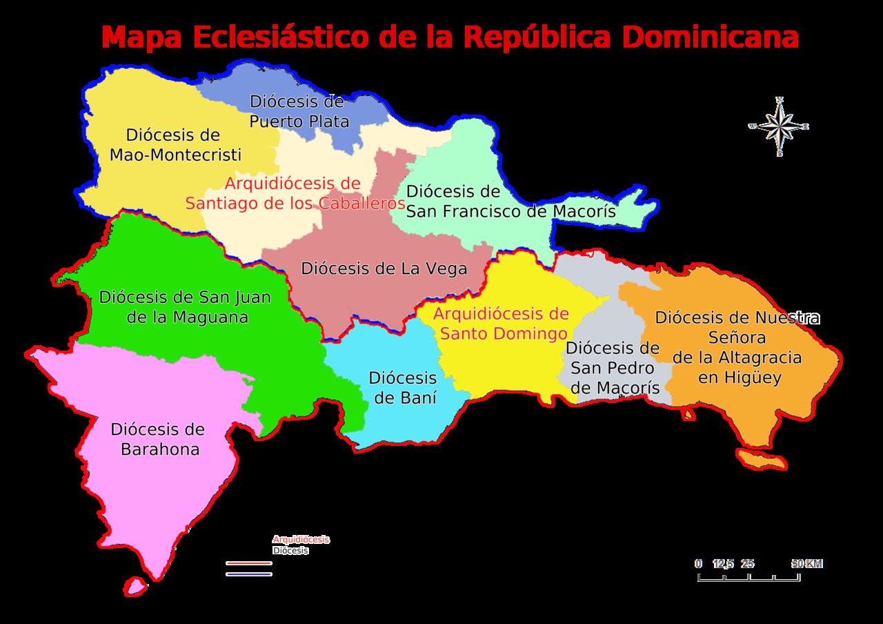 Archivo:División territorial de las diócesis en República Dominicana.png - Wikipedia, la enciclopedia libre