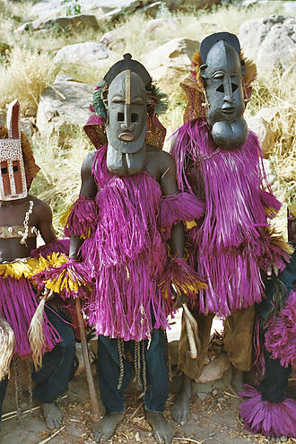 Dogon people - Dogon men in their ceremonial attire