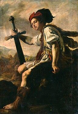 Domenico Fetti - Davide con la testa di Golia (Dresden)