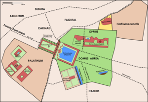 Domus Aurea - Overall plan of Domus Aurea