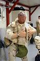 Donning riot squad gear at Guantanamo.jpg