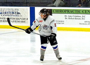 Dorchester Dolphins - Dolphins Defenseman comes back to block rush early in the 2013-14 season.