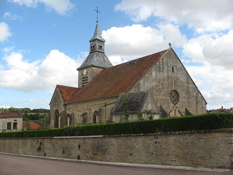 Doulevant-le-Château, église Saint-Louvent vue du nord-ouest.