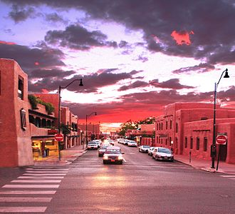 Santa Fe County, New Mexico - Image: Downtown Santa Fe (7727204516)