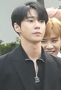 Doyoung going to a Music Bank recording in April 2018 01.png