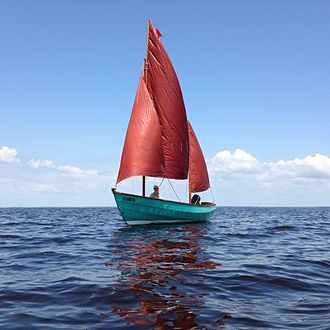 "Drascombe - 1974 Drascombe Lugger ""Roamer"" sailing East Bay Florida"