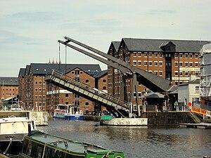 Drawbridge at Gloucester docks