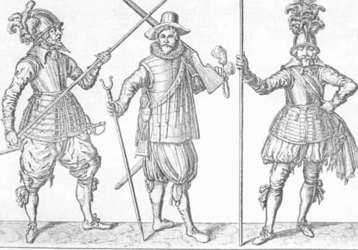 Drei Landsknechte