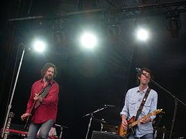 Drive-By Truckers performing at The Gorge Amphitheatre, Washington, during the Sasquatch! Music Festival in 2010