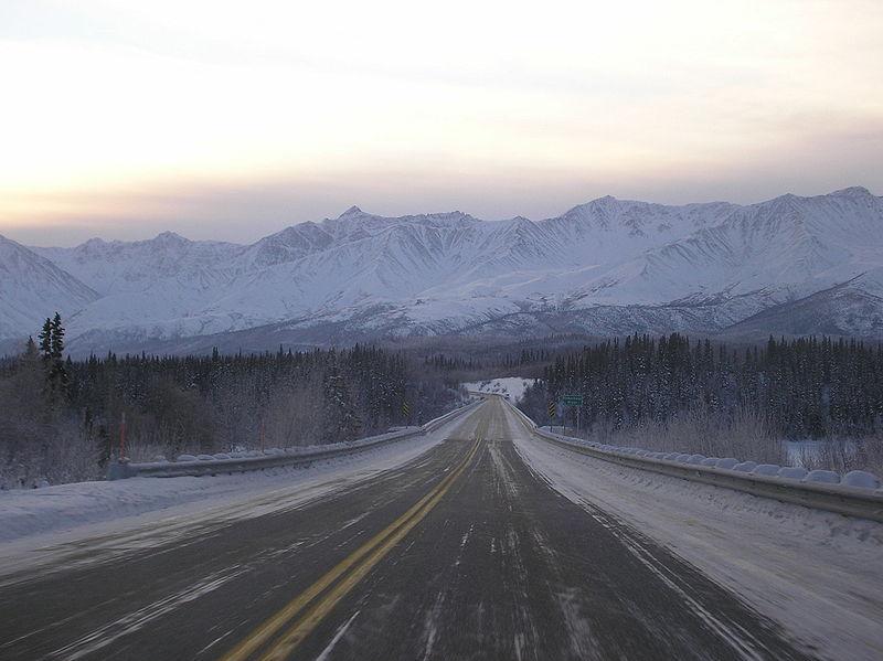 File:Driving the Alaska Highway.jpg