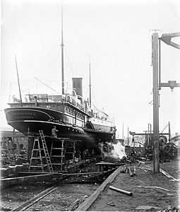 Dronningen at Elsinore Shipyard.jpg