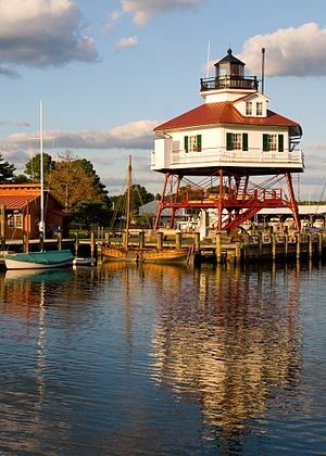 Calvert County, Maryland - Image: Drum Point Light, wide (21611643621)