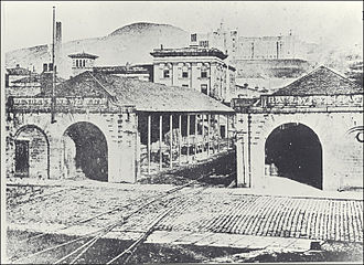Dundee and Newtyle Railway - The original Dundee station on Ward road