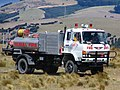 Dunedin City Council Hino rural fire truck Mt Allan fire, NZ 2010 2.jpg