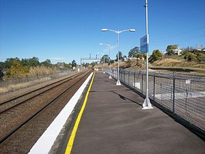 Dungog railway station - Image: Dungog railway station end of platform 1