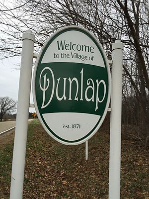 Dunlap, Illinois - Dunlap welcome sign