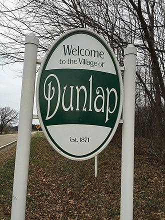 Dunlap, Illinois - Dunlap welcome sign
