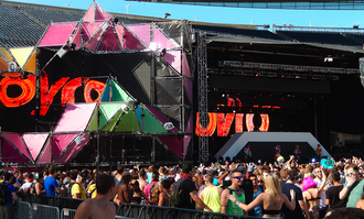 Dyro - Dyro's stage setup during a performance on June 14, 2014 at Spring Awakening in Chicago.