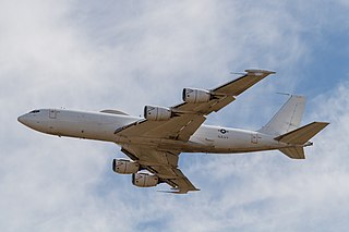 Airborne command post aircraft by Boeing based on 707 airframe