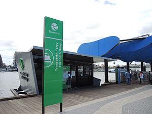 Elizabeth Quay Jetty - Transperth Ferry office at Elizabeth Quay Jetty