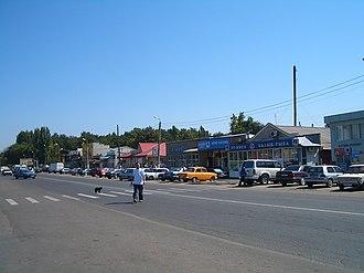Kant, Kyrgyzstan - The main street of Kant