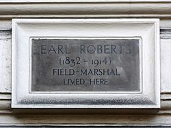 Earl roberts (1832 1914) field marshal lived here