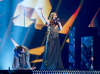 Malta in the Eurovision Song Contest 2016 - Ira Losco during a rehearsal before the first semi-final