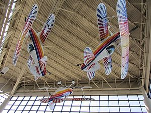 Tom Poberezny - Eagles Aerobatic Team aircraft flown by Poberezny, Hillard, and Soucy on display at the EAA Aviation Museum