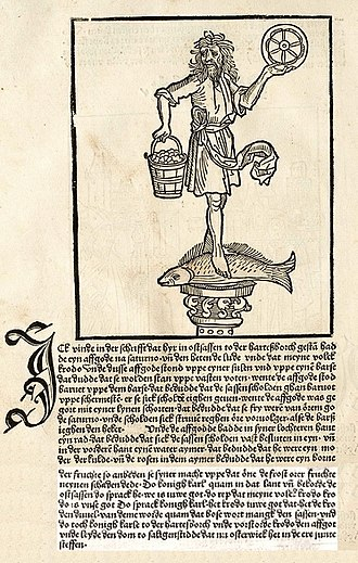 Rod (Slavic religion) - Illustration and description of Krodo from the Saxon Chronicle, 1492.