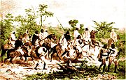 Early nineteenth century warriors in Abyssinia