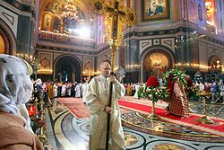 Easter service in the Cathedral of Christ the Saviour in Moscow, Russia, 2013-05-05 (06).jpeg