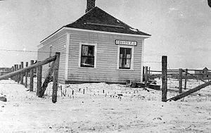 Westlock - Post office in Edison, 1906
