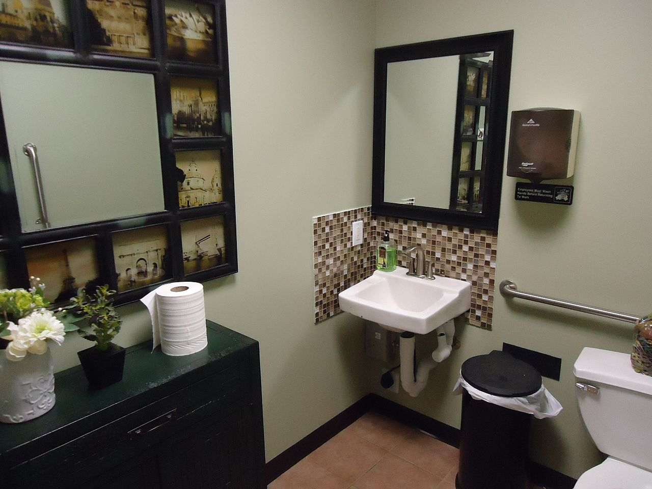 File edison nj the coffee house beautiful bathroom decor for Washroom decoration designs