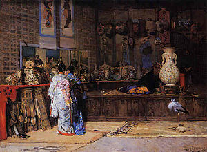 Édouard Castres - At the Japanese Market, 1870