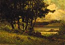 Edward Mitchell Bannister - Untitled (landscape with cows grazing near river) - 1983.95.139 - Smithsonian American Art Museum.jpg