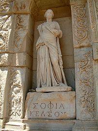 """Personification of wisdom (in Greek, """"Σοφ..."""