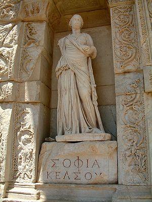 Personification of wisdom (in Greek,